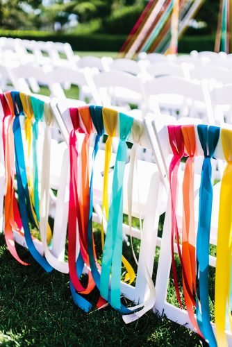 wedding chair decorations color ribbon decor milouandolin