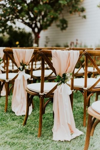 wedding chair decorations tulle chair decor Shelly Anderson Photography