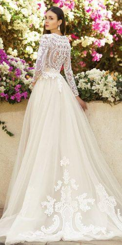 wedding dresses 2019 a line with long sleeves lace top oksana mukha