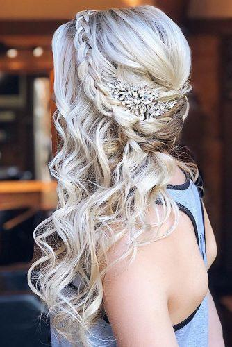wedding hairstyles 2019 braided crown on long blonde hair hairandmakeupbysteph