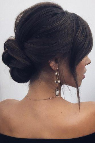 wedding hairstyles 2019 elegant low bun lenabogucharskaya