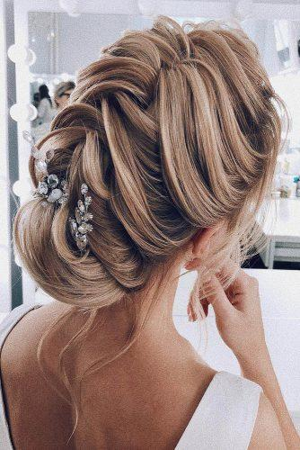 wedding hairstyles 2019 elegant textured updo on blonde hair my_wedmakeup
