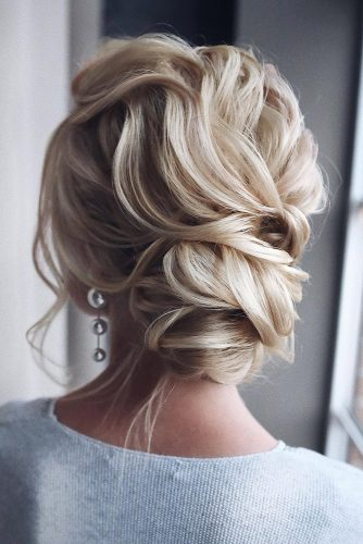 wedding hairstyles 2019 low bun curly on blonde hair tonyastylist
