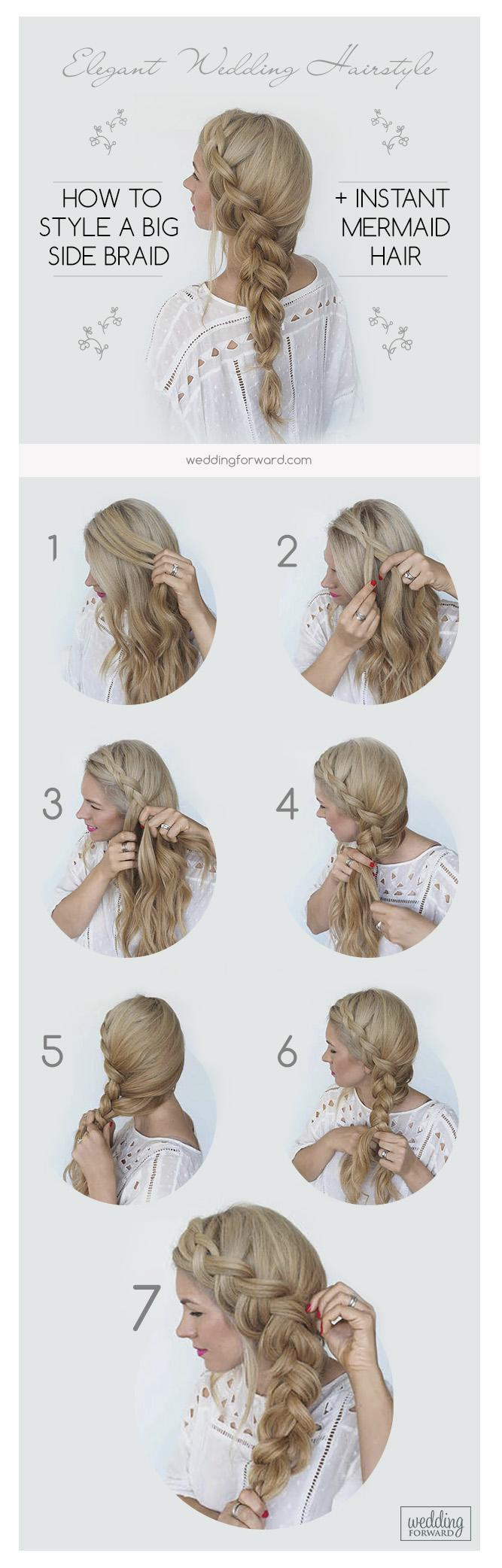 4fb885c5a9 wedding hairstyles for long hair big side braid tutorial