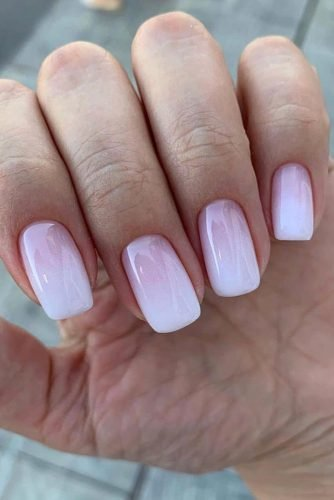 wedding nails 2019 pink and white light gradient nail_art_store