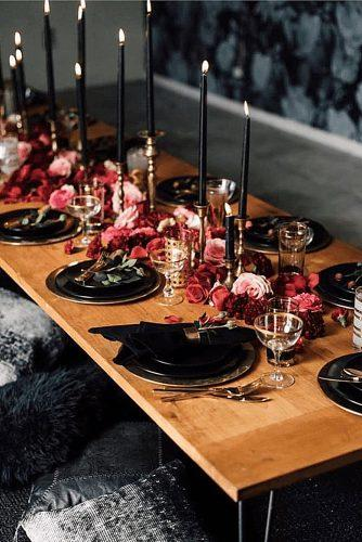 wedding themes chic moody color decor