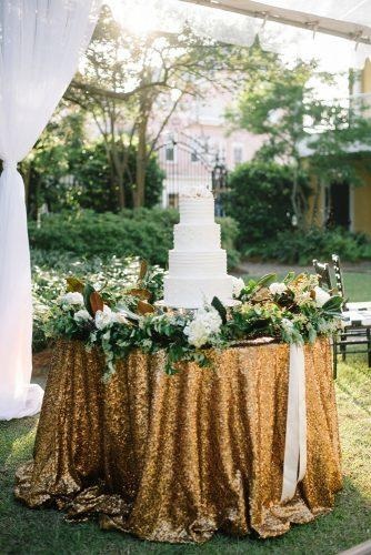 wedding themes metallic decor wedding cake table