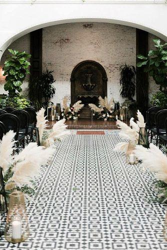 wedding themes pampas grass decor