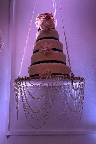wedding themes pearl decor wedding cake