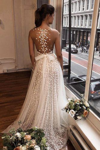 wedding trends 2019 a line with tattoo effect back berta