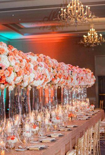 wedding trends 2019 coral wedding decorations coral flower reception decor inijephoto