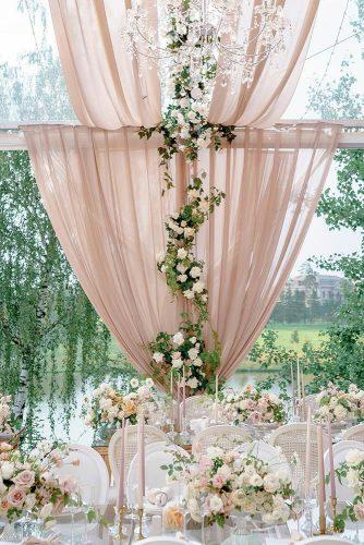 wedding trends 2019 outdoor reception under dusty pink tent decorated with roses and greenery roman_ivanov_weddings