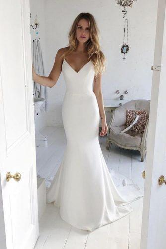wedding trends 2019 simple trumpet with spaghetti straps for beach suzanne neville