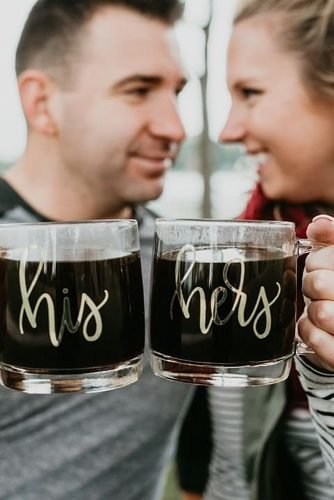 engagement gifts his and hers coffee mugs