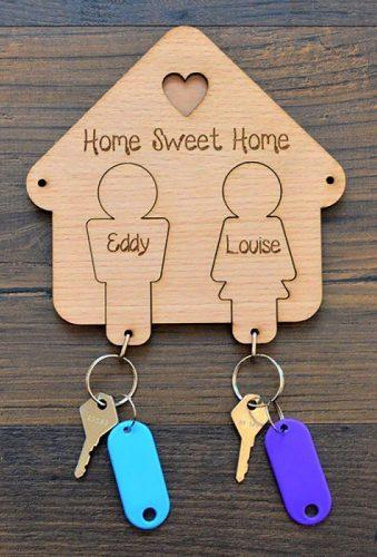 engagement gifts house for key pretty personalised