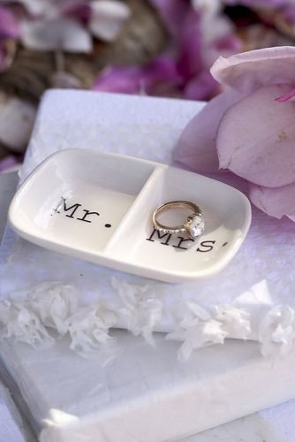 engagement gifts mr and mrs ring dish