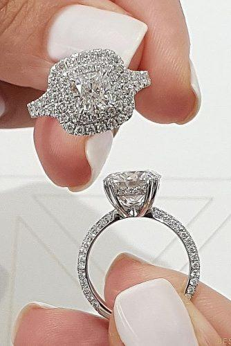 engagement ring trends 2019 double halo pave band diamond