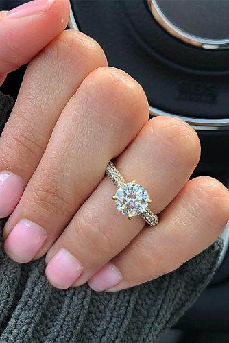 engagement ring trends 2019 gold simple solitaire classic round cut