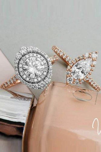 engagement ring trends 2019 halo pave band diamond