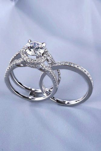 engagement ring trends 2019 modern white gold set diamond unique