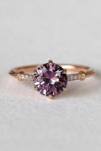 engagement ring trends 2019 round cut sapphire rose gold
