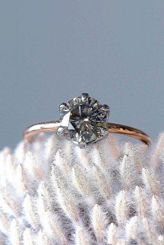 engagement ring trends 2019 simple classic round cut