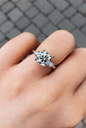 engagement ring trends 2019 three stones modern unique diamond