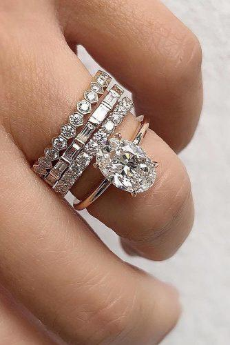 engagement ring trends 2019 rose gold oval cut diamond wedding set diamond pave band