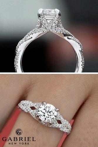 gabriel co engagement rings twisted pave bands diamonds soliteire round cut