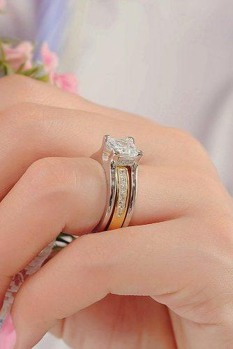 gold engagement rings white and yellow gold diamond