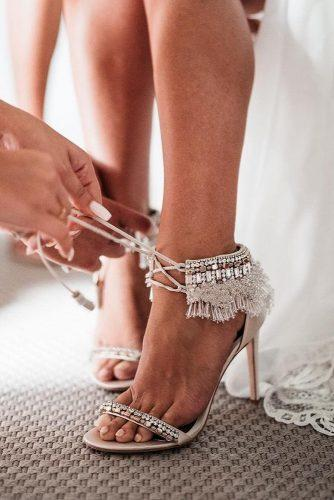 gorgeous bridal shoes boho with heels badgleymischka