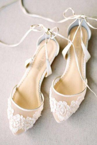 gorgeous bridal shoes flat with lace nude bellabelleshoes