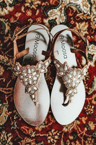 gorgeous bridal shoes sandals vintage with stones allthatmakesyouhappy