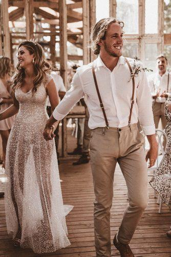 groom attire boho t shirt with suspenders boutonniere nathan lapham