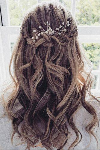 45 Half Up Half Down Wedding Hairstyles Ideas Wedding Forward