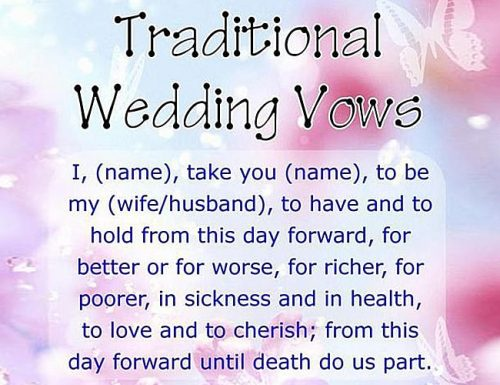How To Write Wedding Vows Examples And Template