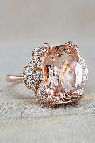 morganite engagement rings radiant cut amazing details unique