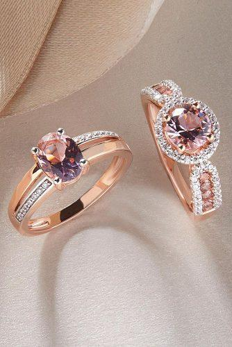 morganite engagement rings rose gold with amazing details