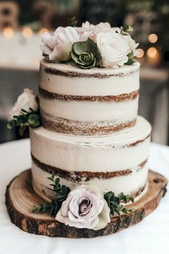small rustic wedding cakes small white naked cake with pale roses corinna & dylan photography