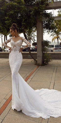 tina valerdi wedding dresses mermaid heart shaped long sleeves Paige