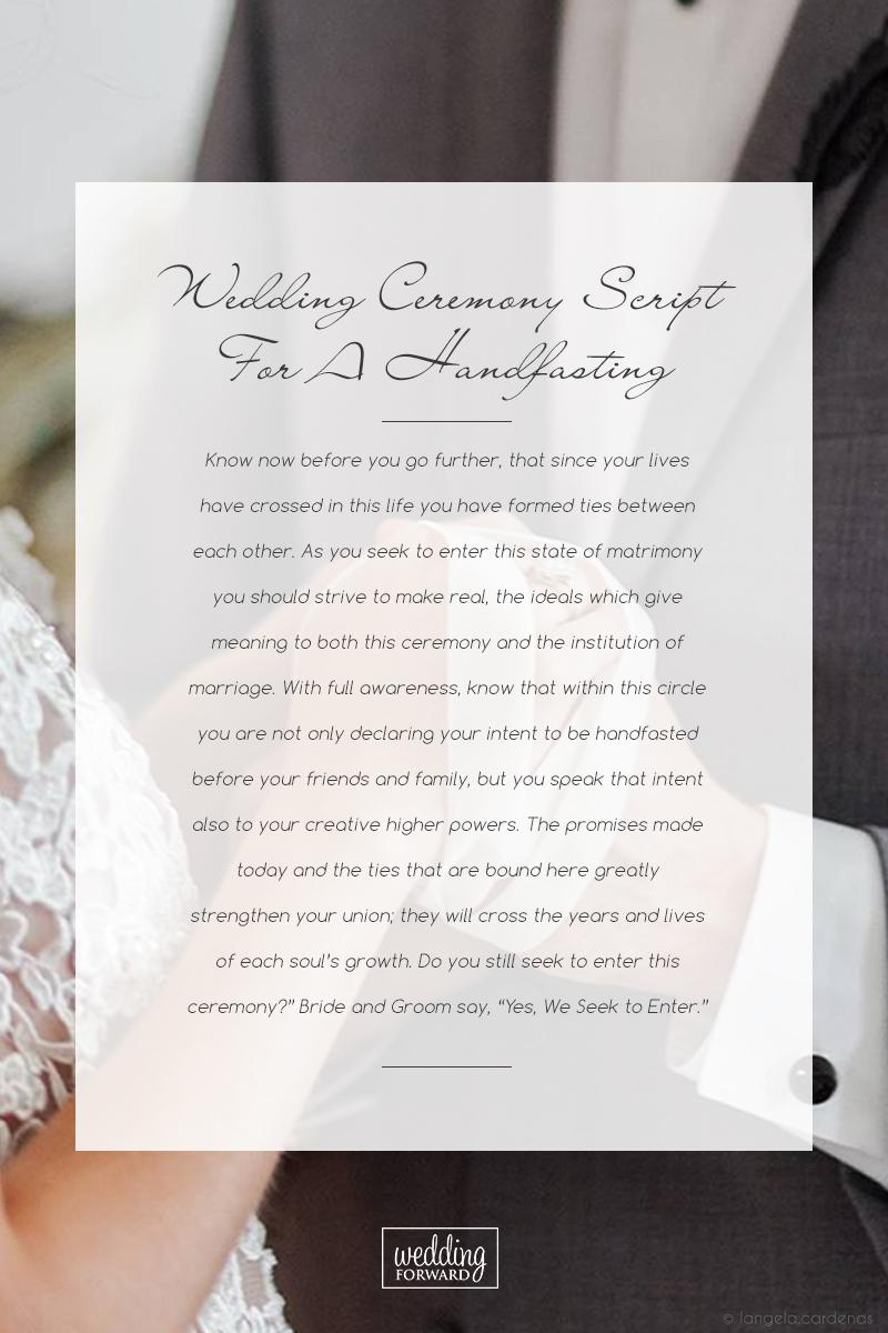 wedding ceremony script handfasting