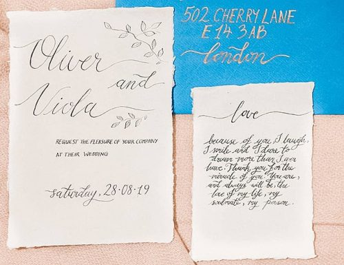wedding vows for her calligraphy design