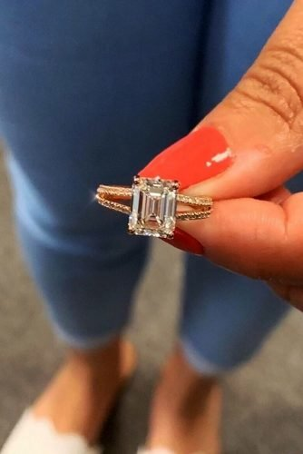 engagement ring shapes emerald cut diamond engagement rings rose gold engagement rings split shank engagement rings ritani