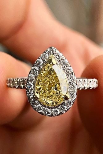 engagement ring shapes white gold engagement rings pear shaped engagement rings yellow diamond-engagement rings ajbjewelry