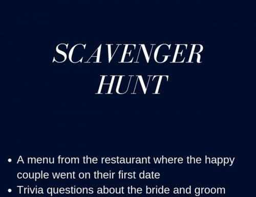bachelo party games scavenger hunt