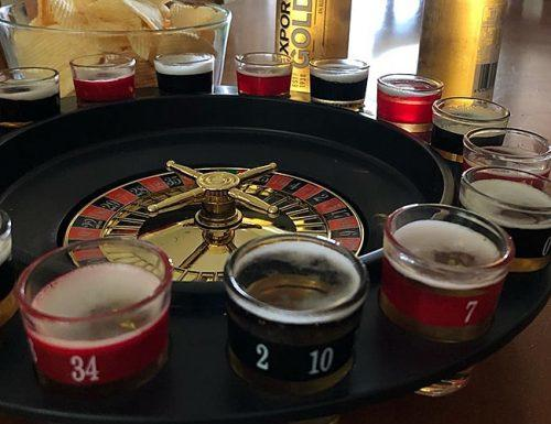 bachelor party games shot roulette