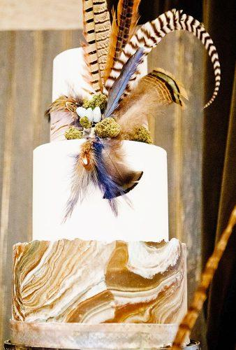 bohemian wedding cakes big feather simplejoiephoto