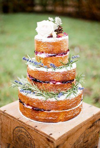 bohemian wedding cakes naked wedding cake Naomi Kenton Photography