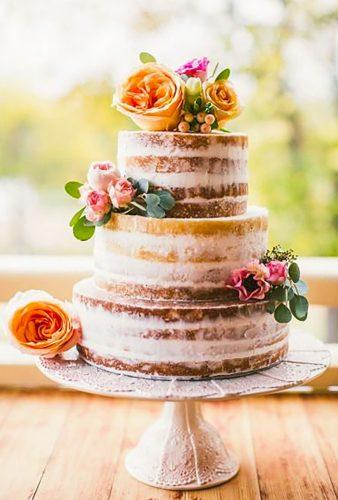 bohemian wedding cakes naked wedding cake orange flowers alisonlawsoncakes