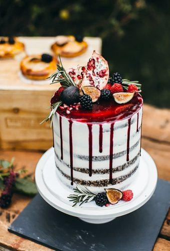 bohemian wedding cakes red caramel on cake Emily Kirke Photography